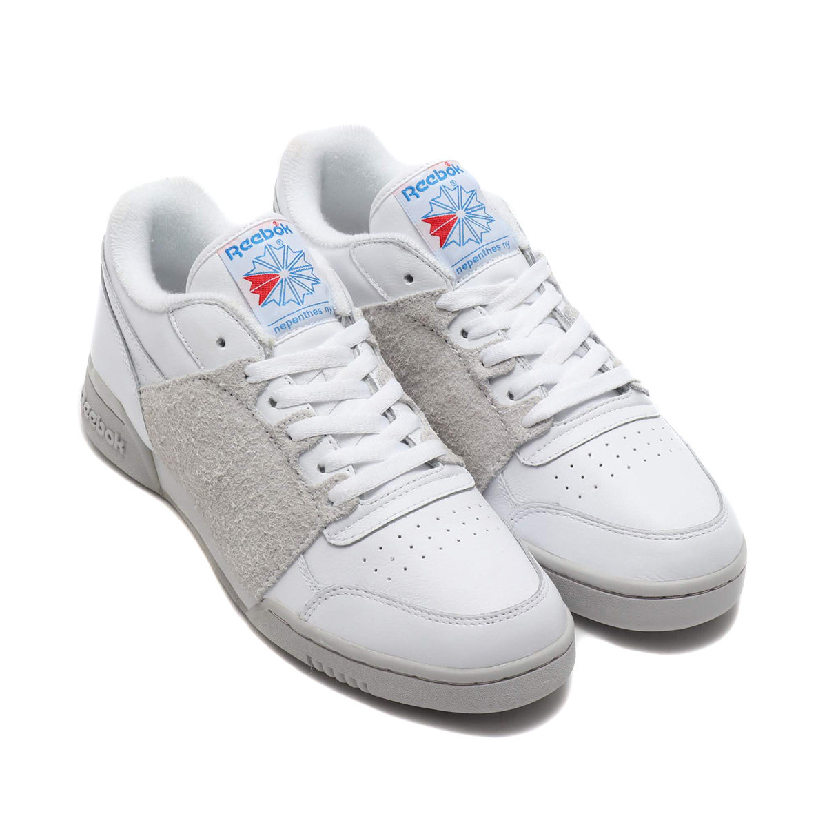 SALE お取り寄せ商品 Reebok 2019.SS WORKOUT PLUS 贈与 NEPENTHES トラスト リーボック ワークアウト スニーカー メンズ プラス 19SS-S at20-c BLUE ネペンテス WHT STEEL