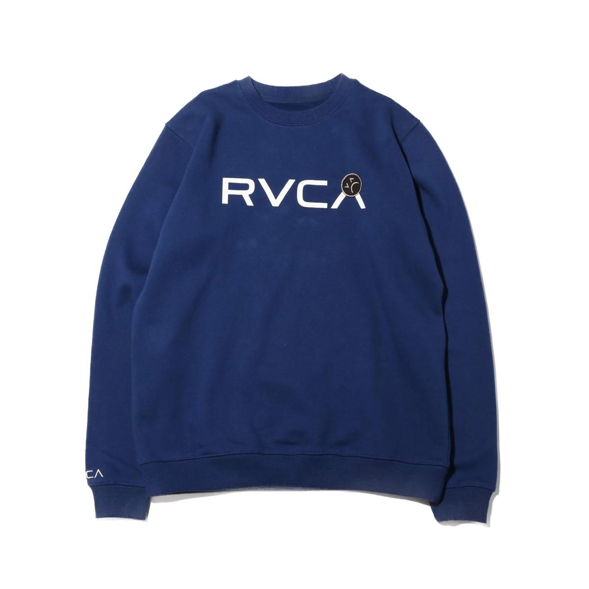 RVCA SAD RVCA CREW(ルーカ サッド ルーカ クルー)NAVY【メンズ スウェット】19FW-I