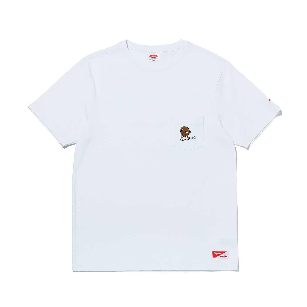 Slyde / KINGDOM TEN POCKET TEE(スライド / キングダム テン ポケット Tシャツ)WHITE【メンズ 半袖Tシャツ】20SU-S at20-c:atmos pink
