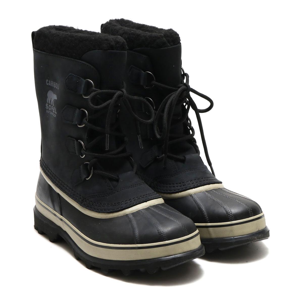 SOREL CARIBOU(ソレル カリブー)BLACK/TUSK【メンズ ブーツ】17HO-I