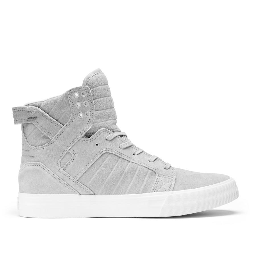 sports shoes 6bd05 adb29 ... womens supra skytop grey white . ...