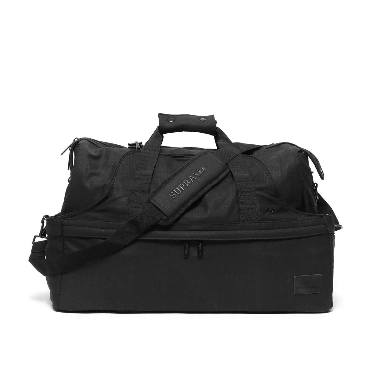 SUPRA TWO-IN-ONE DUFFLE BAG(スープラ ツーインワン ダッフルバッグ)BLACK【メンズ バッグ】14HO-I