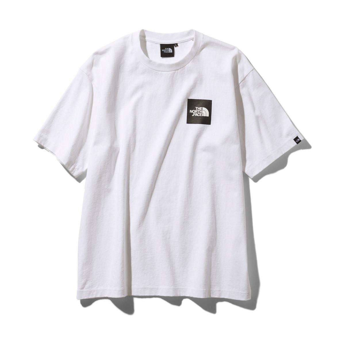 THE NORTH FACE S/S SQUARE LOGO TEE(ザ・ノース・フェイス S/S スクエアロゴ ティー)ホワイト【メンズ Tシャツ】19FW-I