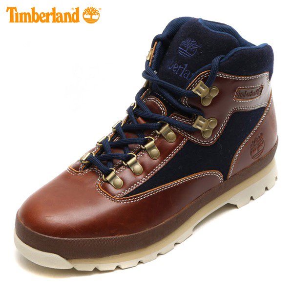 Timberland EURO HIKER MID FABRIC AND LEATHER BROWNNAVY 15FW I