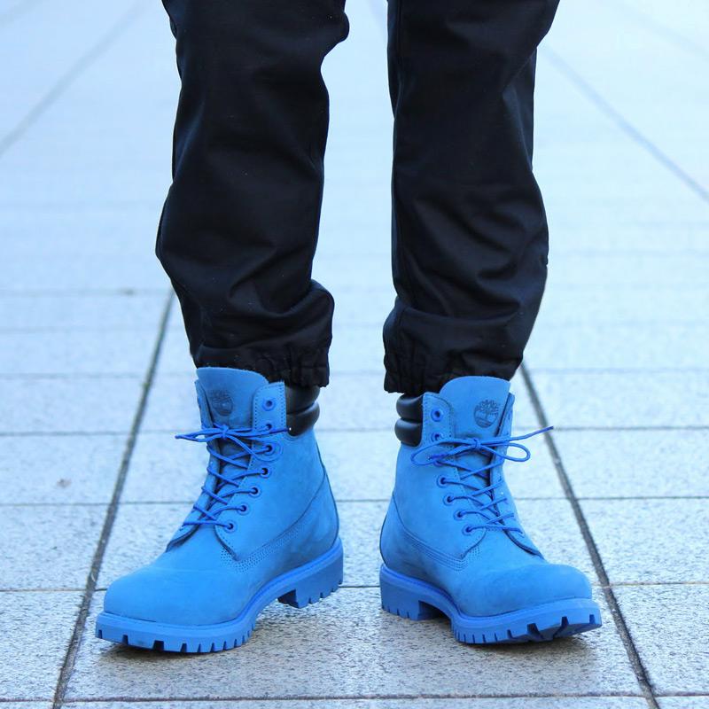 2f0fa40525f9 Timberland×Atmos 6 inch Double Collar Boot (Timberland x Atmos 6 inch  double color boots) (BLUE NUBUCK) 16 FW-S