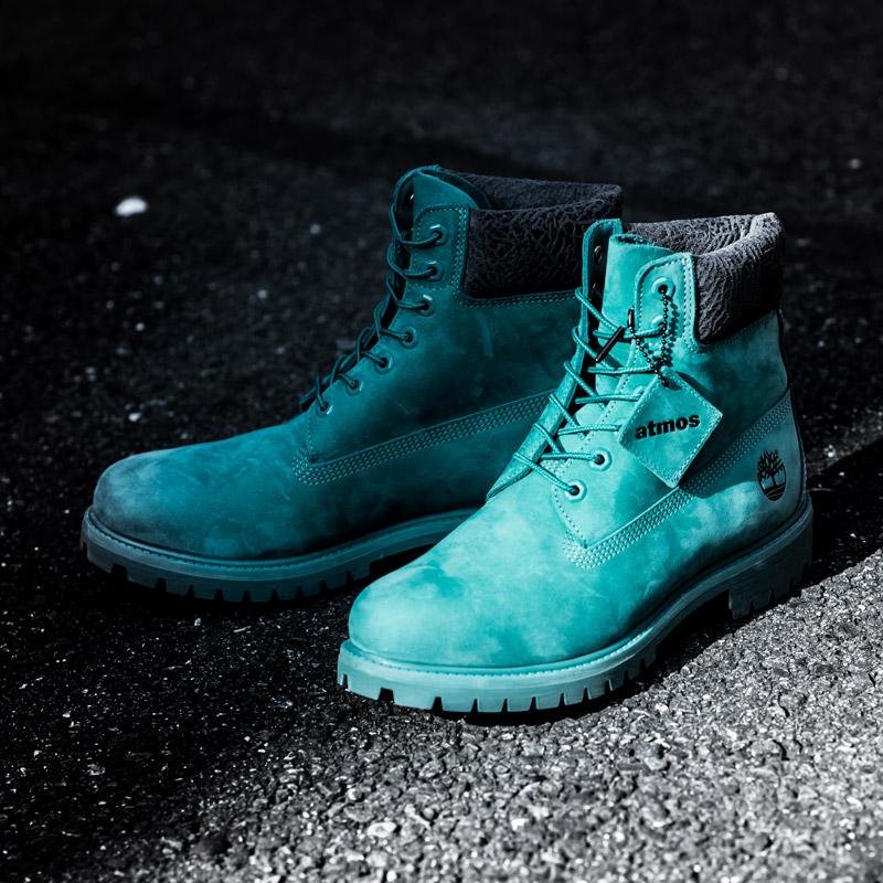 Timberland atmos Exclusive 6 Inch Premium Boots (ティンバーランド アトモス エクスクルーシブ 6インチ プレミアム ブーツ)Teal Blue Waterbuck【メンズ ブーツ】17FW-S