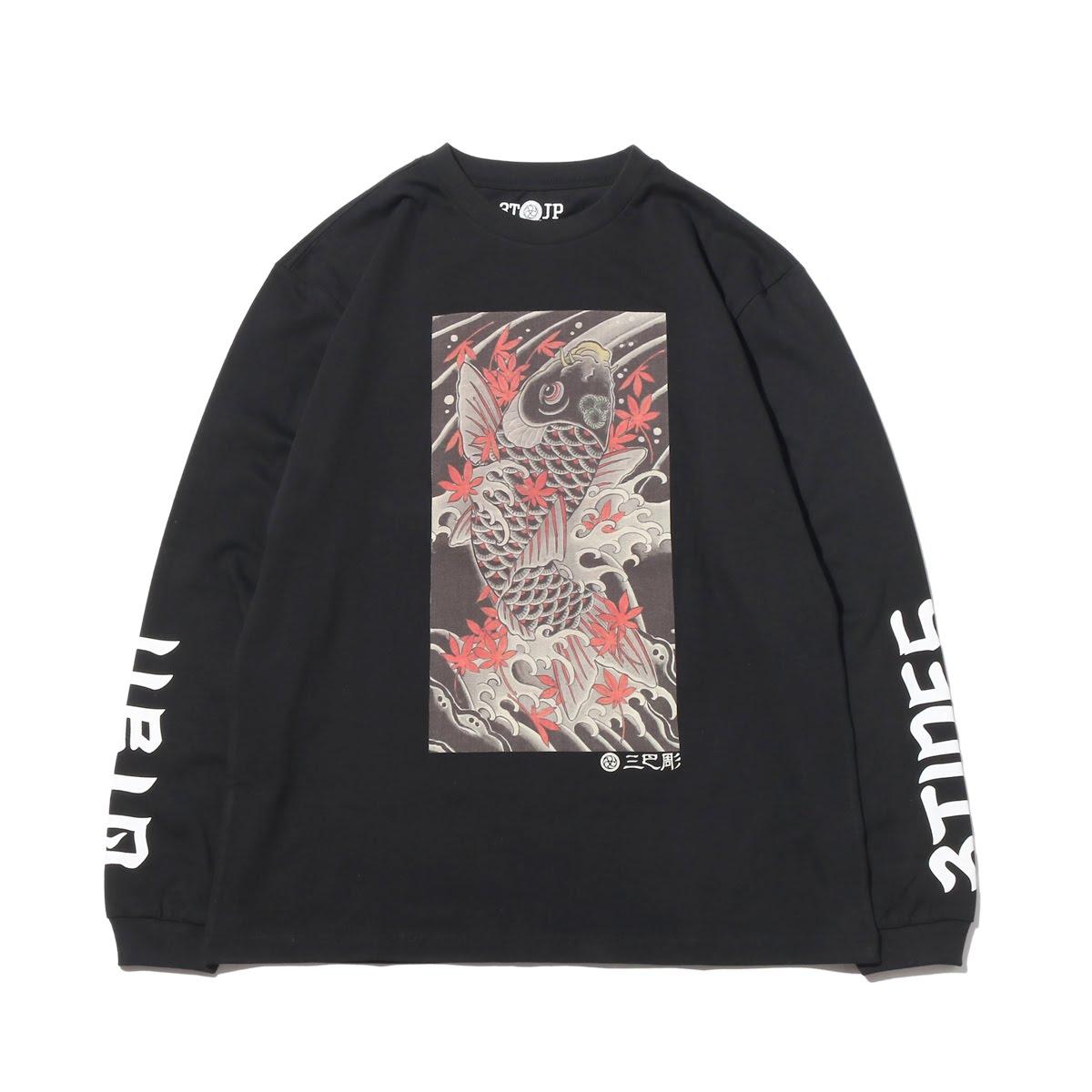 "UBIQ ""IREZUMI"" LS T-SHIRT(Koi) Designed by MATSUO(イレズミ ロングスリーブ Tシャツ(コイ) デザインド バイ マツオ)(BLACK)18SS-I"