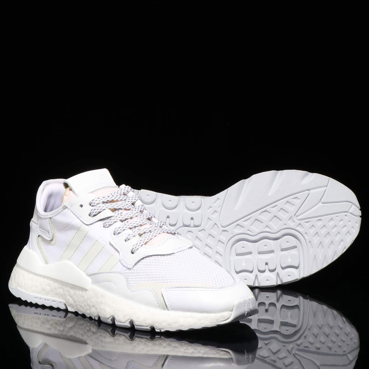 adidas Originals NITE JOGGER (アディダスオリジナルス ナイト ジョガー)FTWR WHITE/CRYSTAL WHITE/CRYSTAL WHITE【メンズ レディース スニーカー】19SS-I