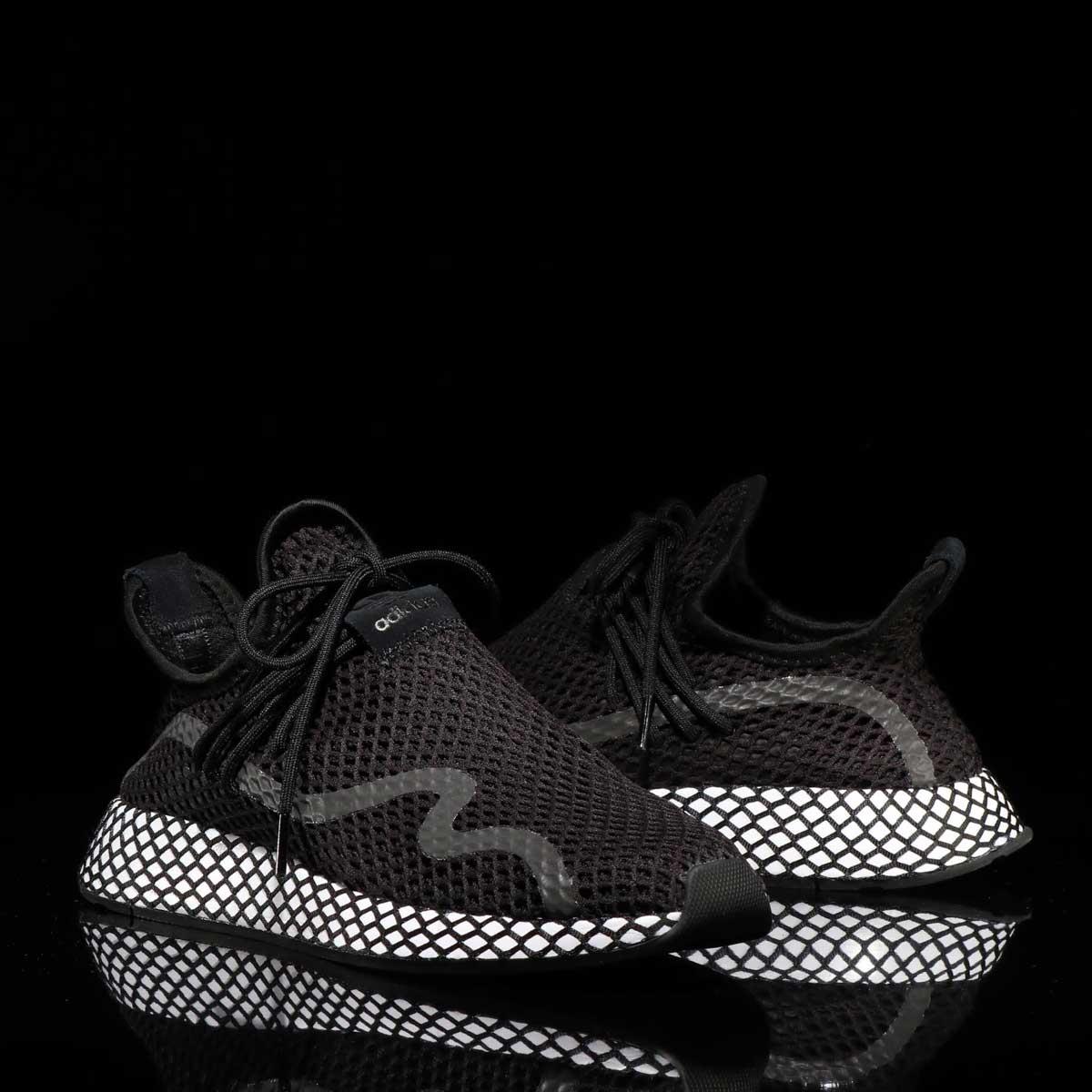 adidas Originals DEERUPT NEW RUNNER(アディダスオリジナルス ディーラプト ニュー ランナー)CORE BLACK/CORE BLACK/RUNNING WHITE【メンズ レディース スニーカー】19SS-I