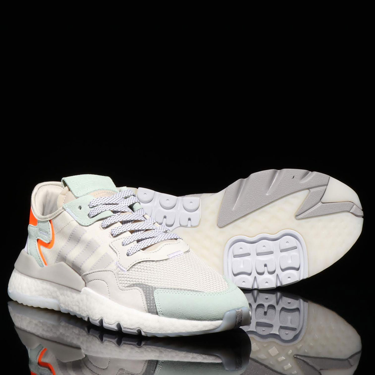 adidas Originals NITE JOGGER (アディダスオリジナルス ナイト ジョガー)RAW WHITE/GREY ONE F17/VAPOUR GREEN【メンズ レディース スニーカー】19SS-I