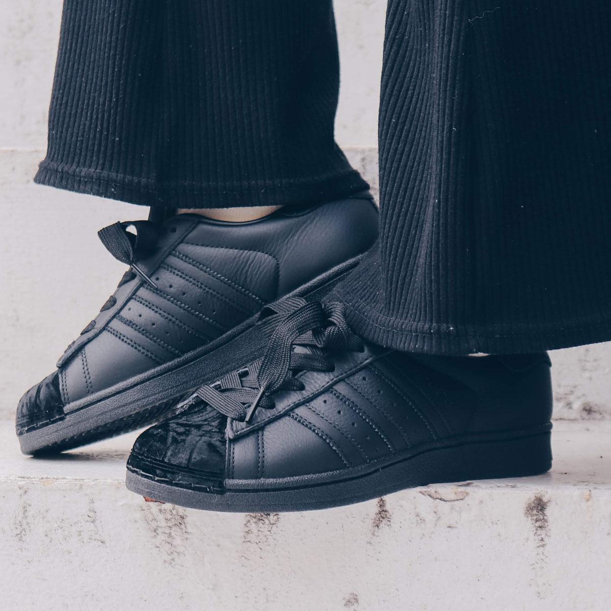 adidas Originals SUPERSTAR W(アディダスオリジナルス スパースター W)CORE BLACK/CORE BLACK/CORE BLACK【メンズ レディース スニーカー】19SS-I