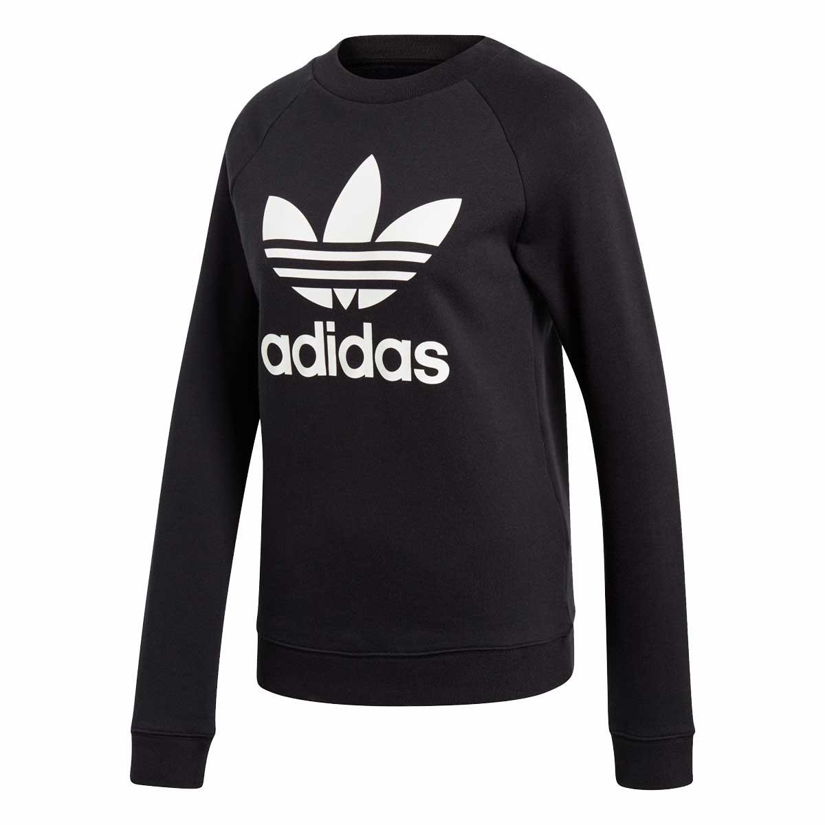 adidas Originals TREFOIL CREW SWEAT(アディダスオリジナルス トレフォイル クルー スウェット)BLACK【レディース スウェット】19SS-I