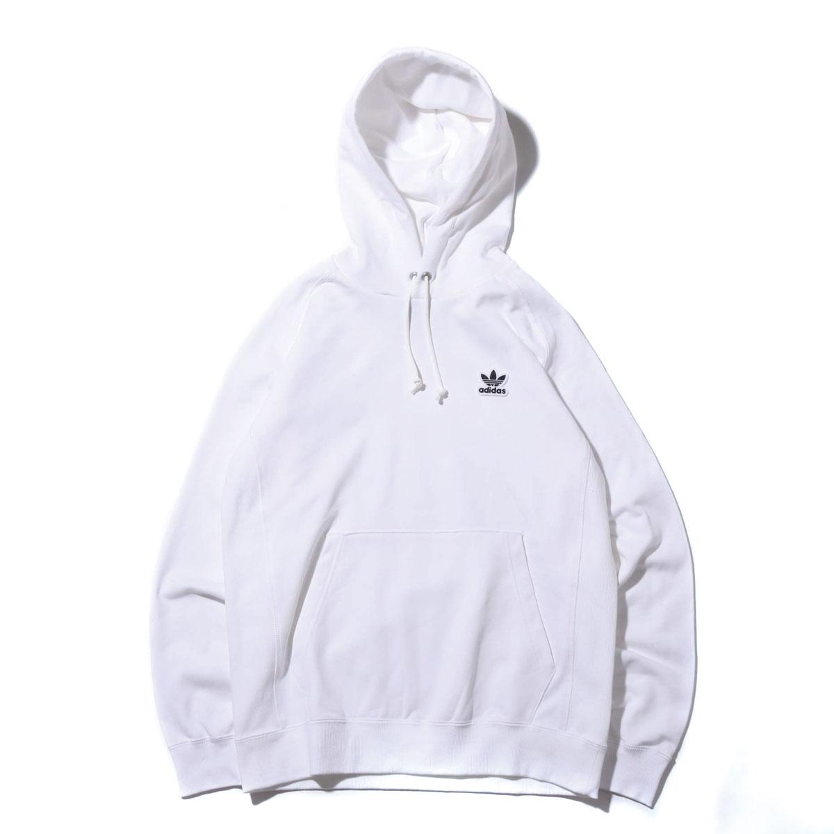 adidas Originals AC WAPPEN HOODIE(アディダスオリジナルス AC ワッペン フーディー)WHITE【メンズ パーカー】19SS-I