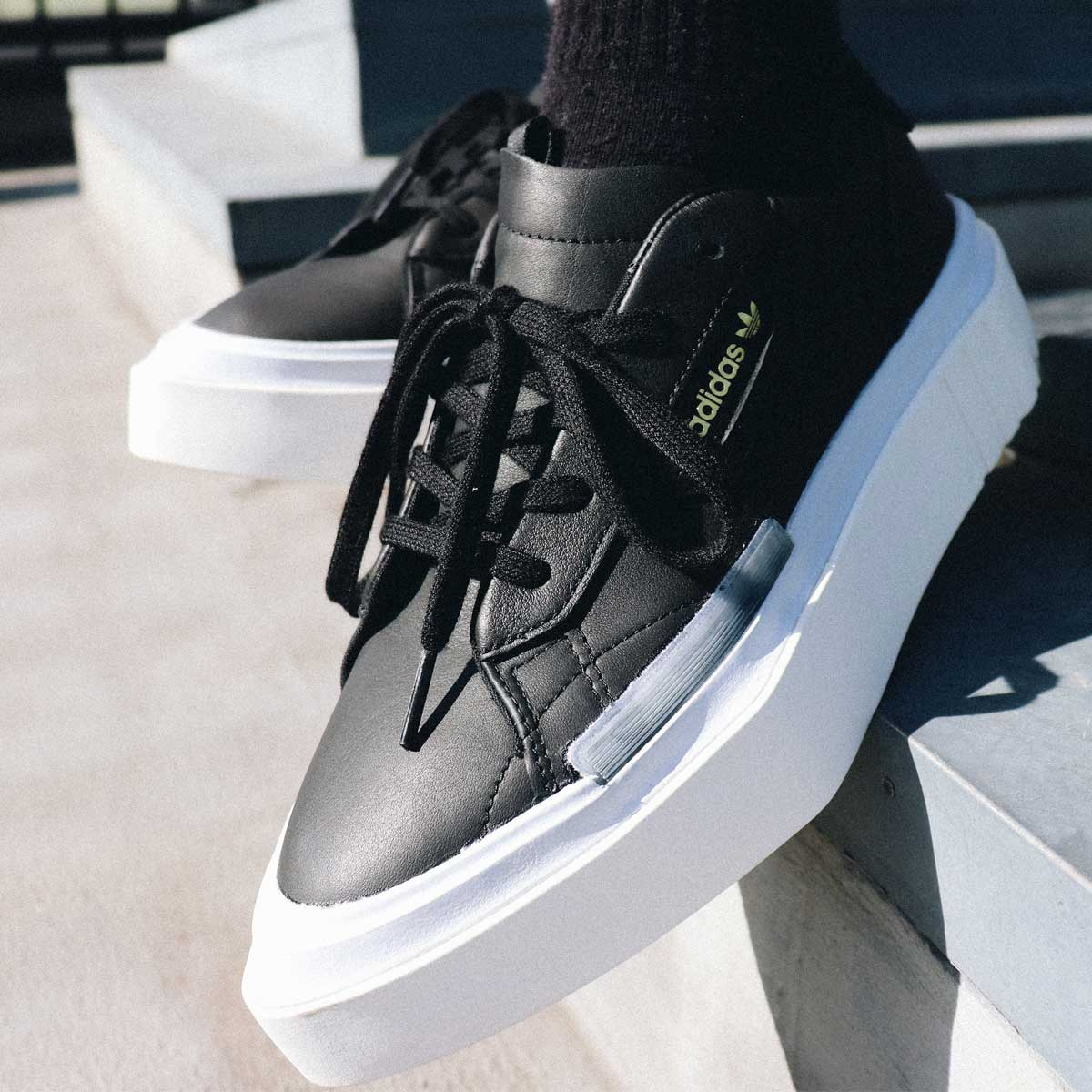 adidas Originals adidas HYPERSLEEK W(アディダスオリジナルス ハイパースリーク W)CORE BLACK/CORE BLACK/AERO BLUE【メンズ レディース スニーカー】19SS-I