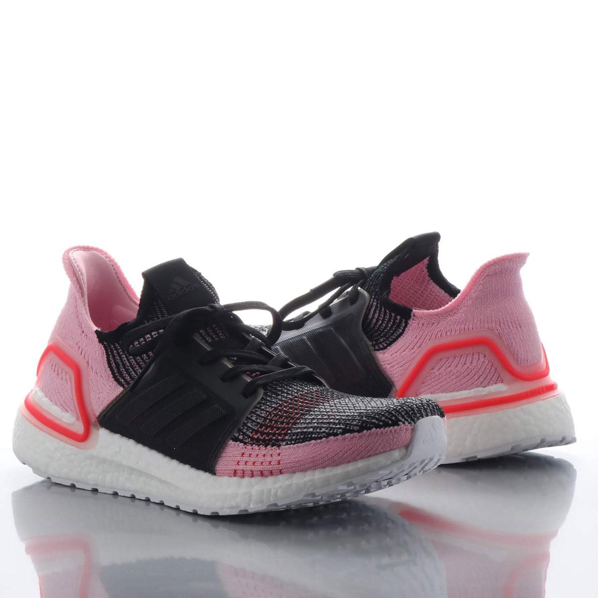adidas UltraBOOST 19 w(アディダス ウルトラブースト 19 w)CORE BLACK/ORCHID TINT/ACTIVE RED【メンズ レディース スニーカー】19SS-I