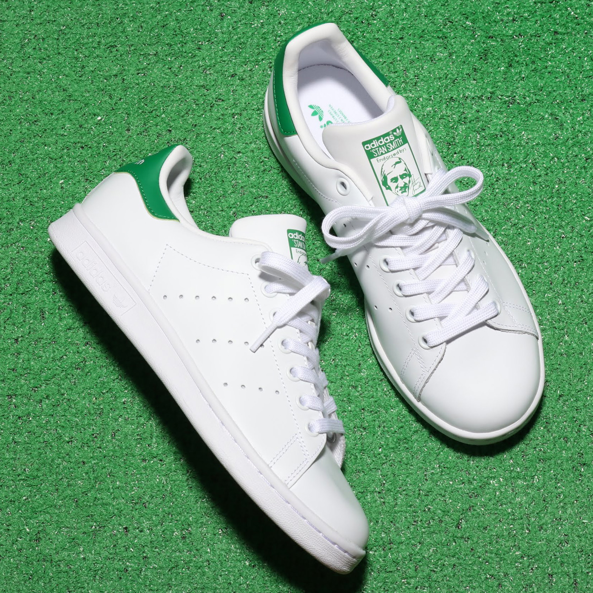 adidas Originals STAN SMITH W(アディダスオリジナルス スタンスミス W)RUNNING WHITE/RUNNING WHITE/GREEN【メンズ レディース スニーカー】19FW-I