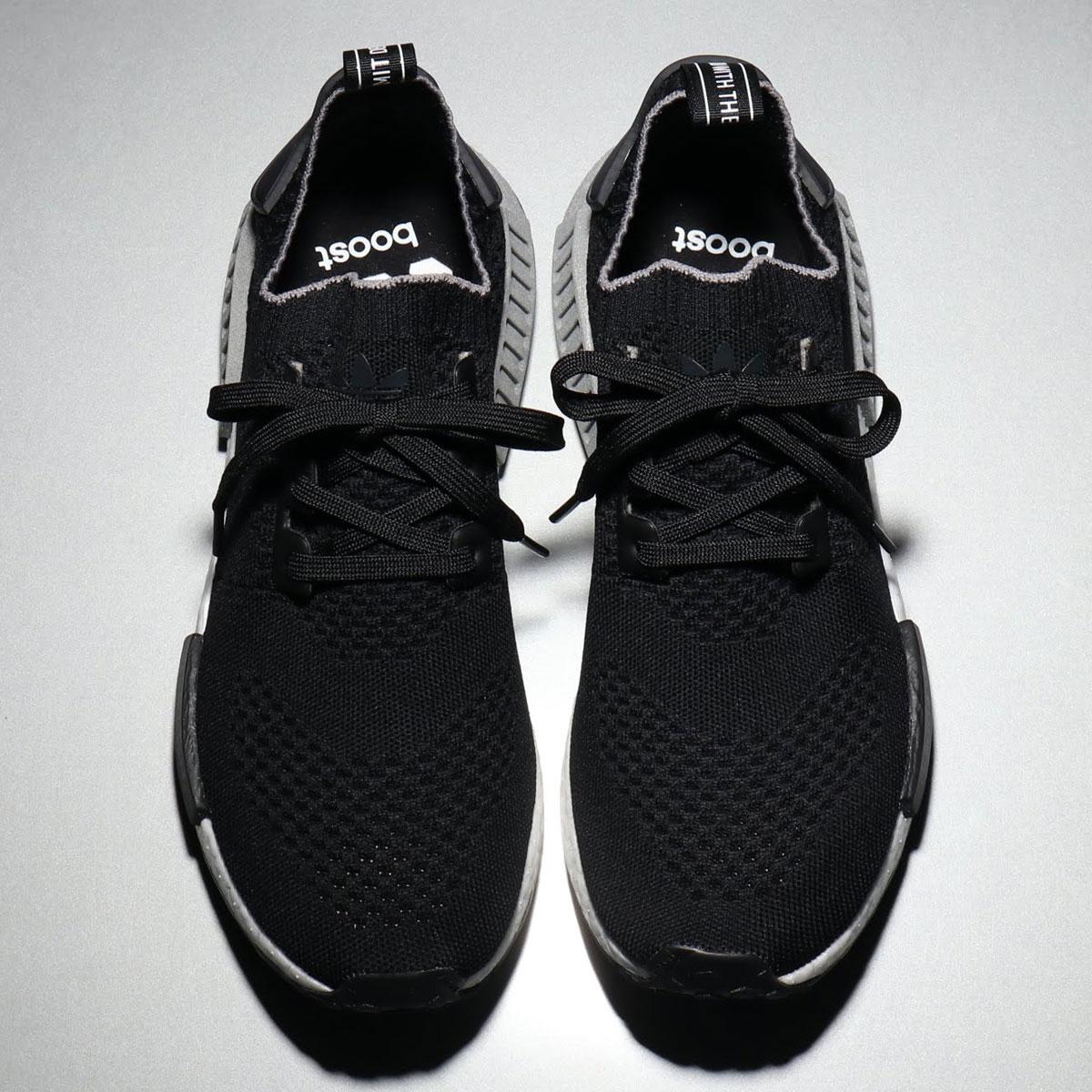 adidas NMD_R1 PK(アディダス エヌエムディー_R1 PK)CORE BLACK/CORE BLACK/GREY THREE【メンズ レディース スニーカー】19FW-I