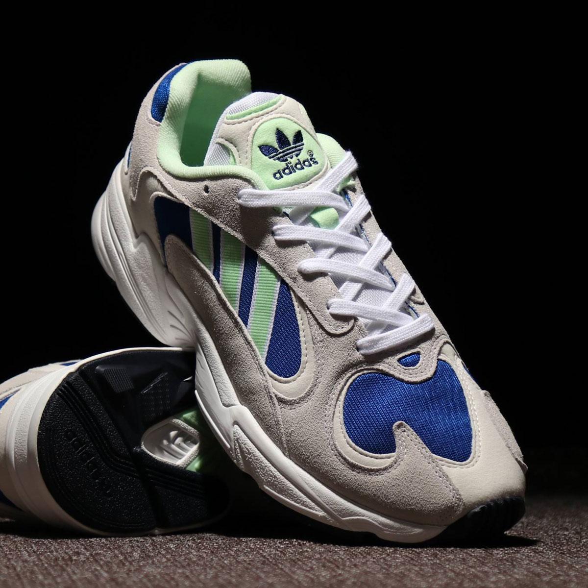 adidas Originals YUNG-1(アディダスオリジナルス ヤングワン)RUNNING WHITE/GLOW GREEN/COLLEGE ROYAL【メンズ レディース スニーカー】19FW-I