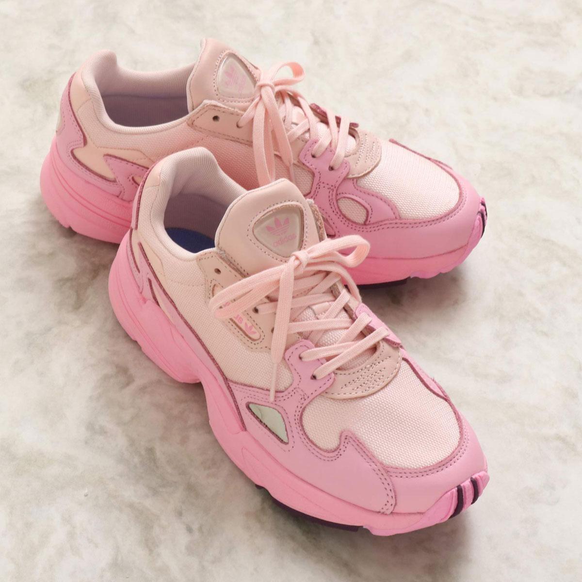 adidas ADIDASFALCON W(アディダス アディダスファルコン W)ICEY PINK/TRUE PINK/CHALK PURPLE【メンズ レディース スニーカー】19FW-I