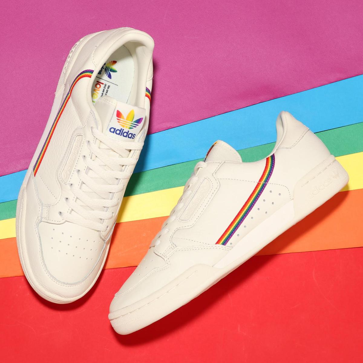 adidas Originals CONTINENTAL 80 PRIDE (Adidas originals Continental 80 pride) OFF WHITEOFF WHITEOFF WHITE 19SS I