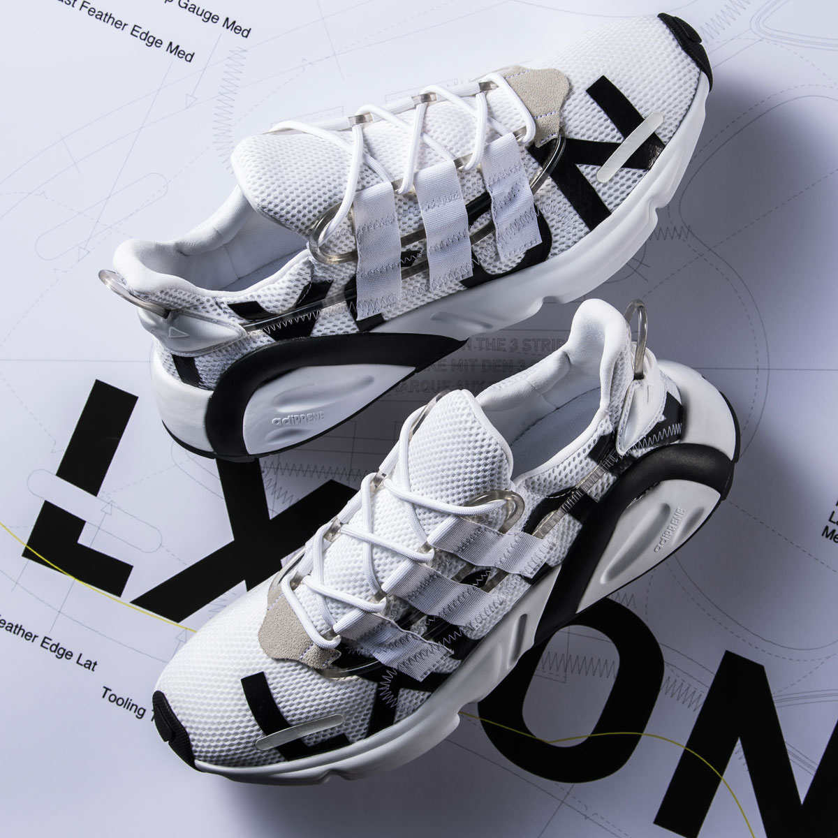 adidas LXCON(アディダス レキシコン)RUNNING WHITE/RUNNING WHITE/BRIGHT YELLOW【メンズ レディース スニーカー】19SS-S