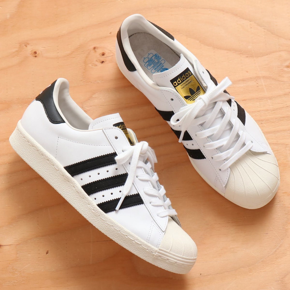 adidas superstar 80s white black