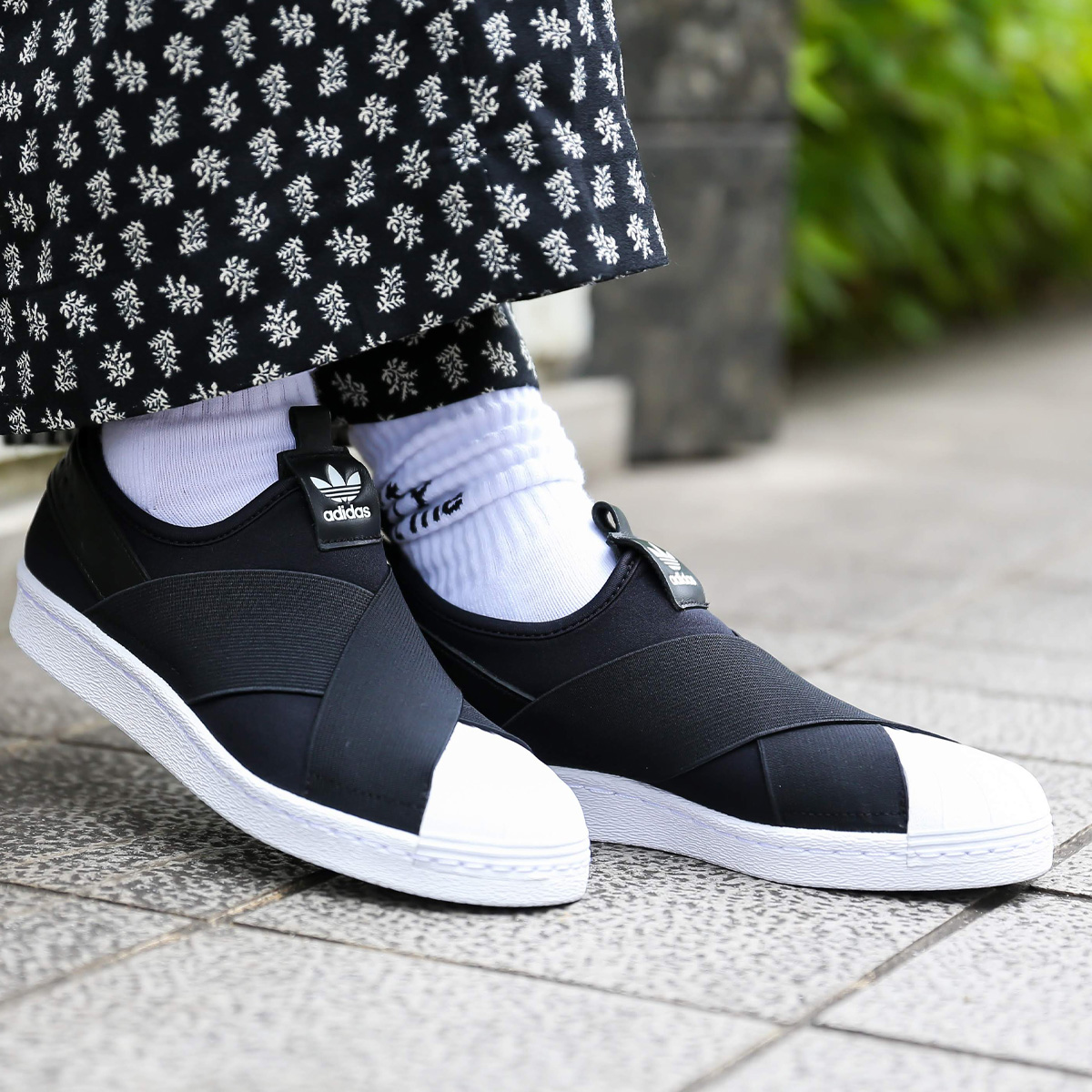 adidas Originals SUPER STAR SLIP ON W (Adidas originals superstar slip-on)  CORE BLACK/CORE BLACK/RUNNING WHITE 19FW-I