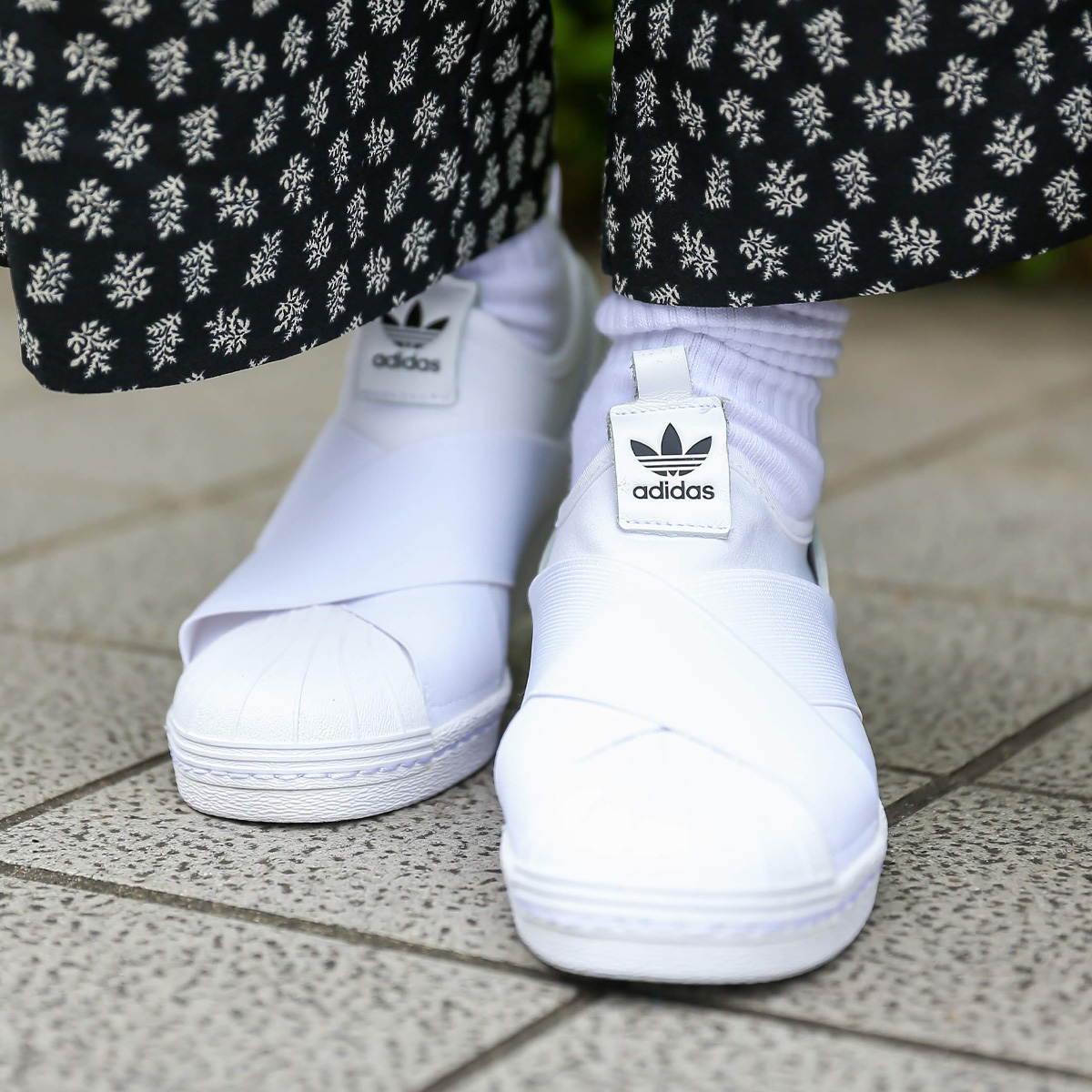 adidas Originals SUPER STAR SLIP ON W (Adidas originals superstar slip-on)  RUNNING WHITE/RUNNING WHITE/CORE BLACK 19FW-I