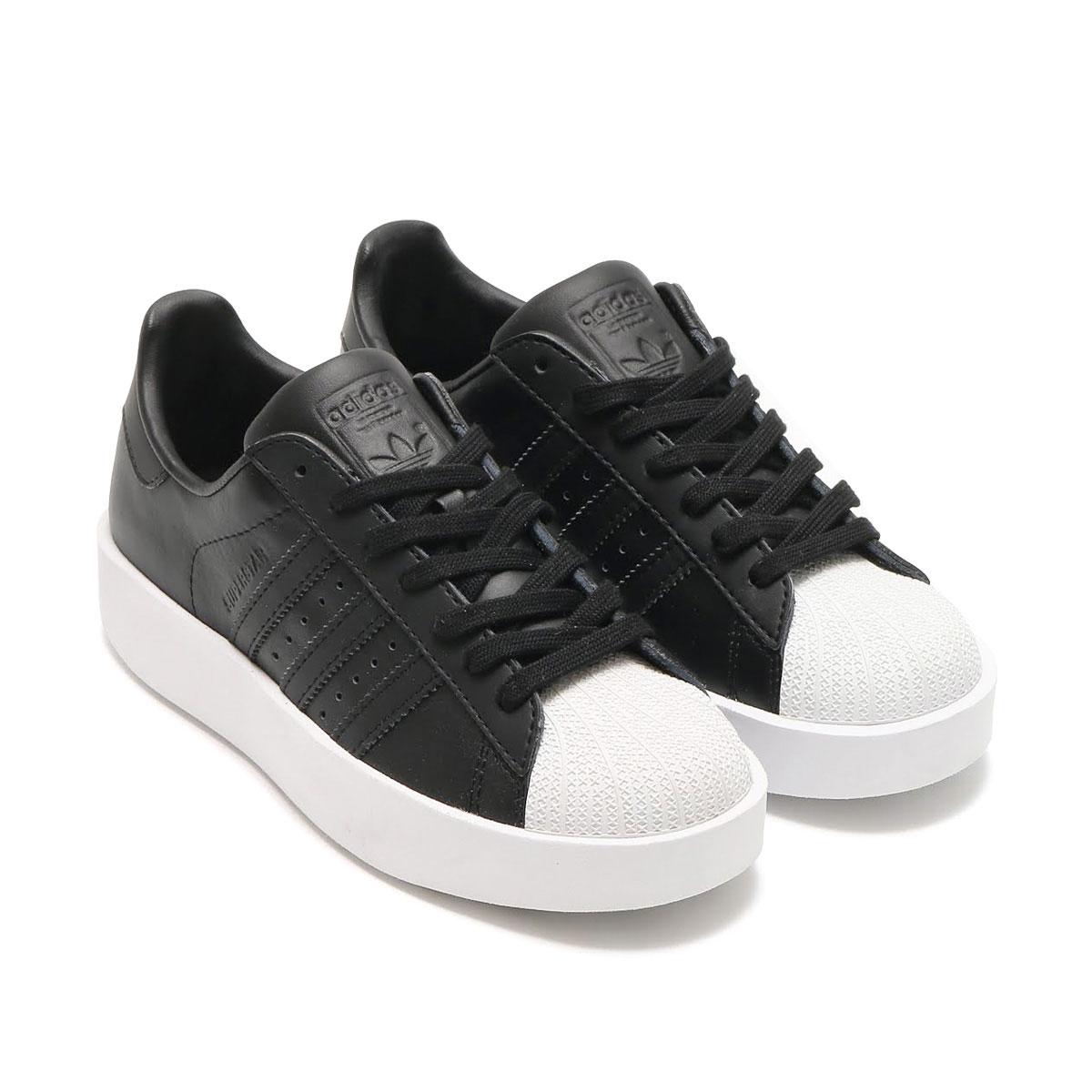 adidas Originals SUPERSTAR BD W (CORE BLACK/CORE BLACK/RUNNING WHITE) (アディダス オリジナルス スーパースターボールド) 【レディース スニーカー】17SS-I