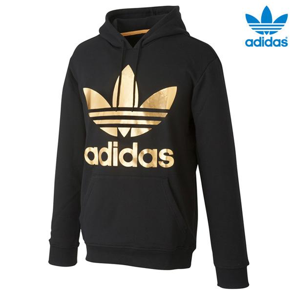 adidas originals hoodie black and gold