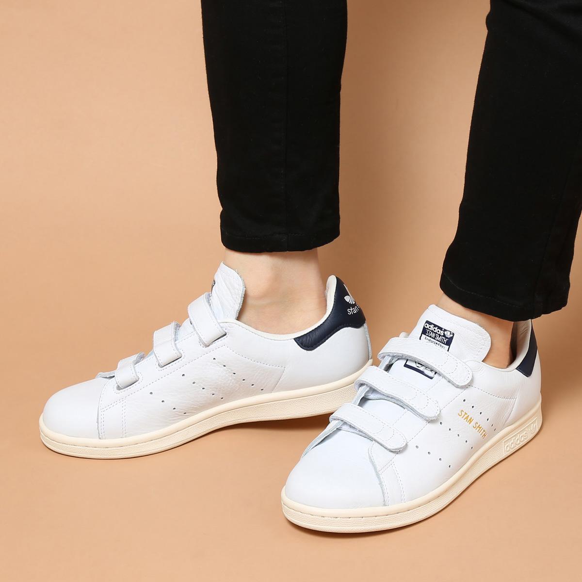 adidas Originals STAN SMITH CF (アディダス スタン スミス CF) RUNNING WHITE/COLLEGIATE NAVY/CHALK WHITE【メンズ レディース スニーカー】【ベルクロ】17SS-I