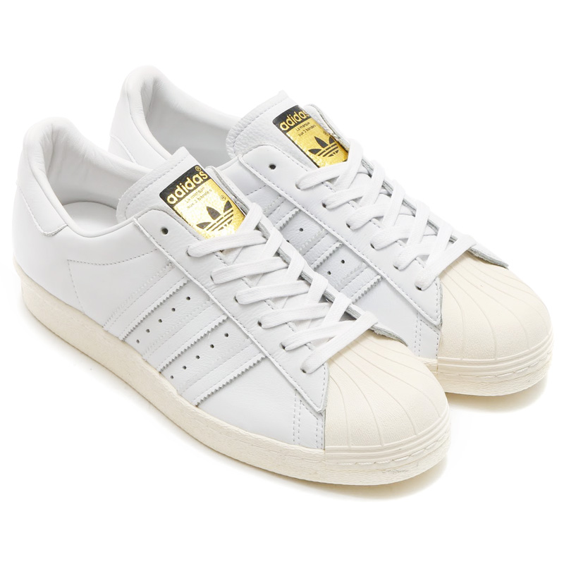 adidas Originals SUPERSTAR 80's DLX(アディダス オリジナルス スーパースター) RUNNING WHITE/RUNNING WHITE/CREAM WHITE【メンズ レディース スニーカー】16SS-I
