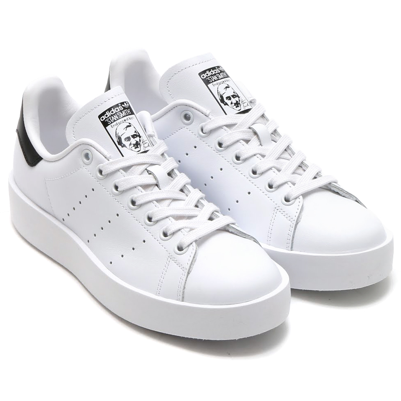 adidas Originals STAN SMITH BOLD W (women\u0027s adidas originals Stan Smith  bold) RUNNING WHITE