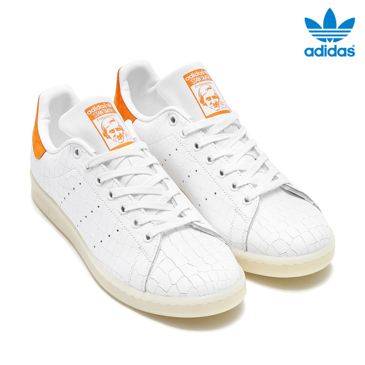 adidas Originals STAN SMITH (アディダス オリジナルス スタンスミス) RUNNING WHITE/RUNNING WHITE/TACTILE ORANGE【メンズ レディース スニーカー】17SS-I