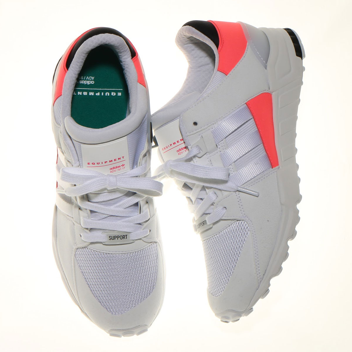 adidas Originals EQT SUPPORT RF(アディダス EQT サポート RF) RUNNING WHITE/RUNNING WHITE/TURBO【メンズ スニーカー】17SS-I