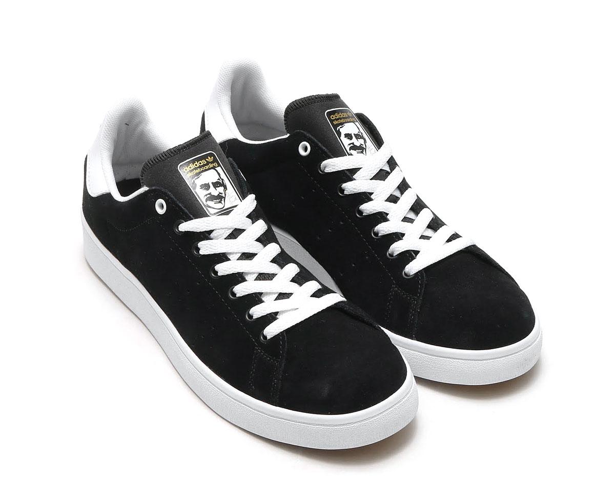 newest 32928 780ed adidas Originals STAN SMITH VULC (Adidas originals Stan Smith) (Core BlackCore  BlackRunning White) 17SS-I
