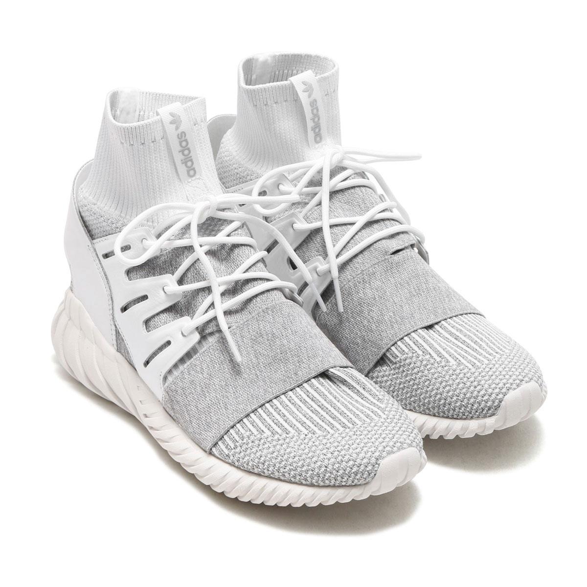 adidas Originals TUBULAR DOOM PK(アディダス オリジナルス チュブラー ドーム PK)(Running White/Running White/Clear Grey) 【メンズ スニーカー】17FW-I