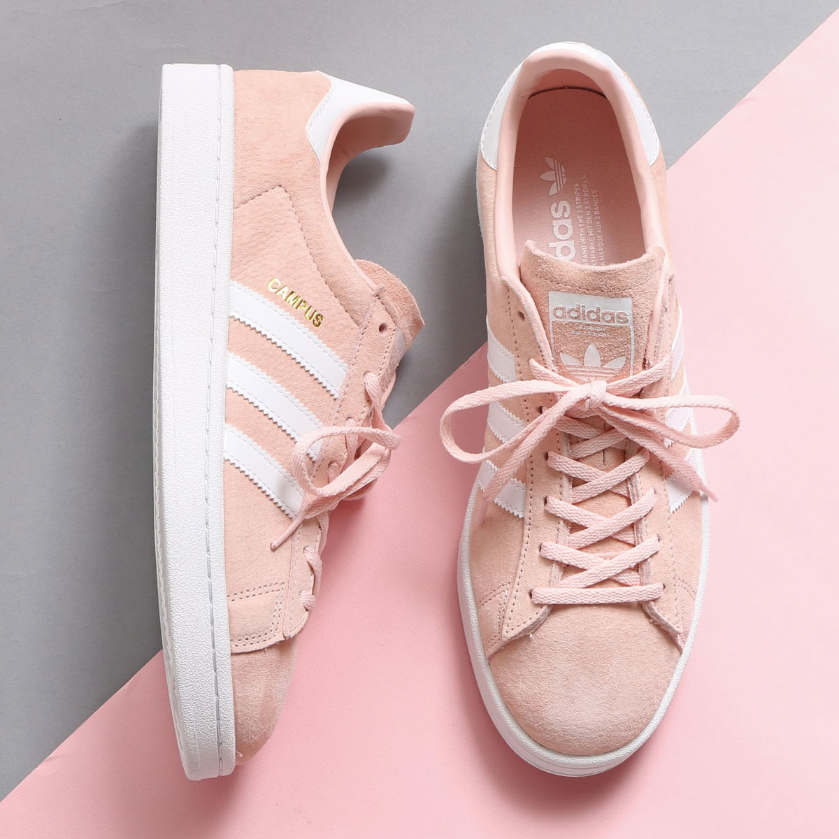 adidas Originals CAMPUS W (Adidas original scan pass W) (Ice PinkRunning WhiteCrystal White) 17FW I