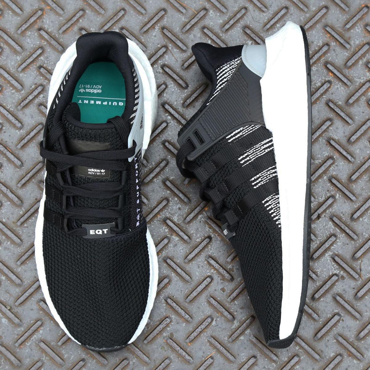 adidas Originals EQT SUPPORT 93/17 (アディダス オリジナルス EQT サポート 93/17)CORE BLACK/CORE BLACK/RUNNING WHITE【メンズ スニーカー】17FW-S