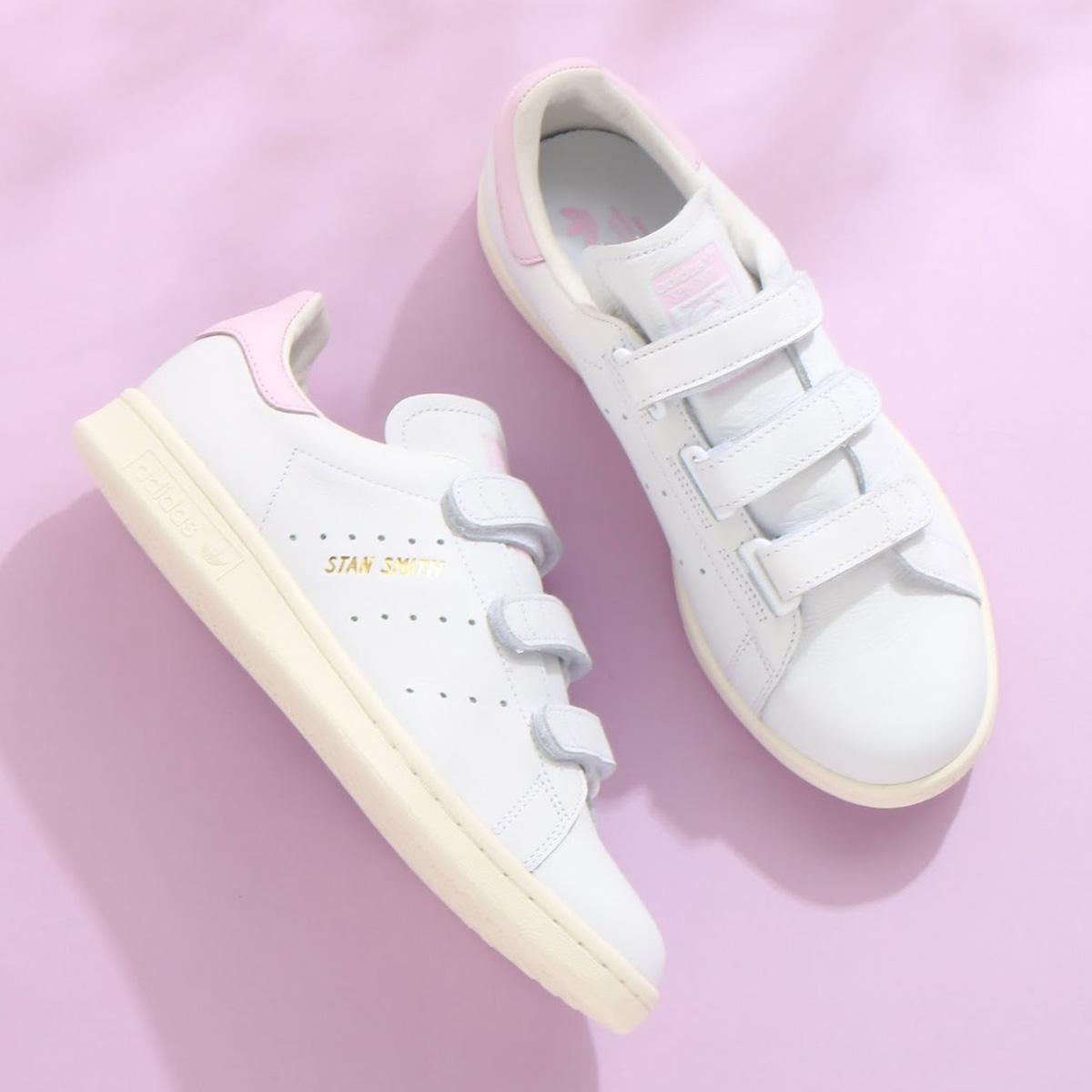 adidas Originals STAN SMITH CF(アディダス オリジナルス スタンスミス CF)Running White/Running White/Aero Pink【レディース スニーカー】18SS-I