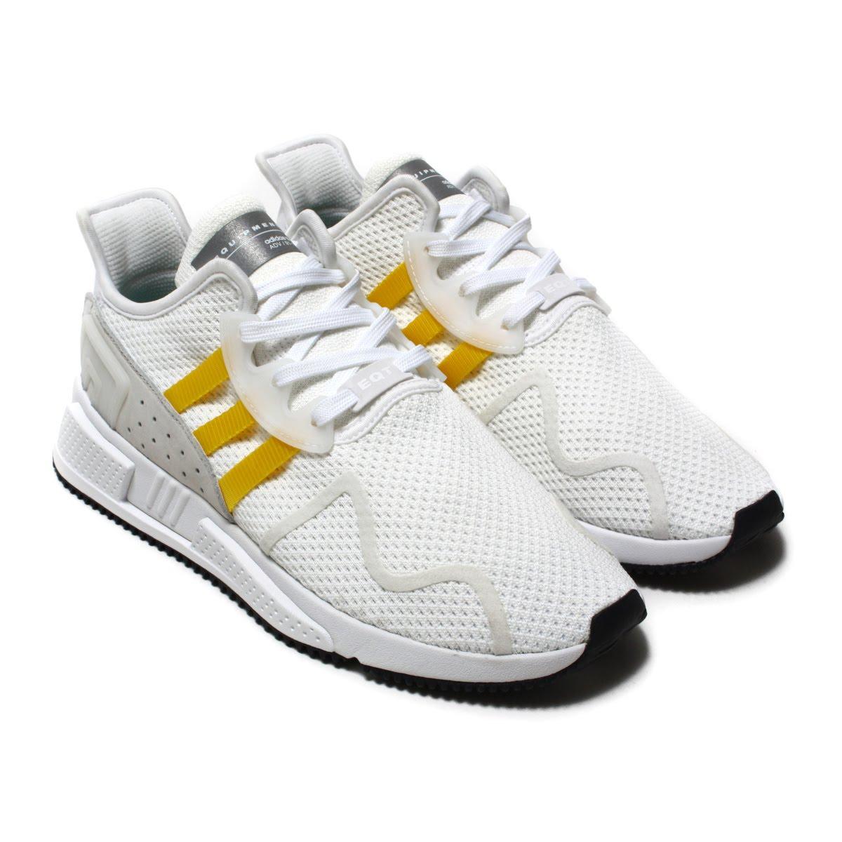 adidas Originals EQT CUSHION ADV(アディダス オリジナルス イーキューティー クッション ADV)Running White/Eqt Yellow/Silver Met【メンズ スニーカー】18SS-I
