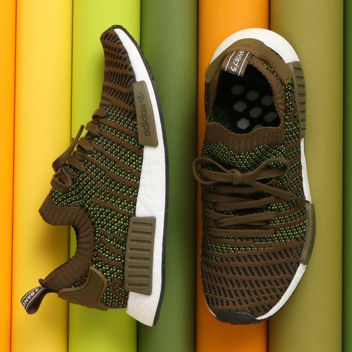 adidas Originals NMD_R1 STLT PK (アディダス オリジナルス エヌエムディー R1 STLT PK)Trace?Olive/Core Black/Solar Slime【メンズ スニーカー】18SS-S