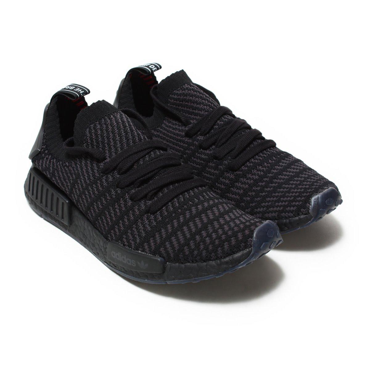 adidas Originals NMD_R1 STLT PK(アディダス オリジナルス エヌエムディー R1 STLT PK)Core Black/Utility Black/Solar Pink【メンズ スニーカー】18SS-I