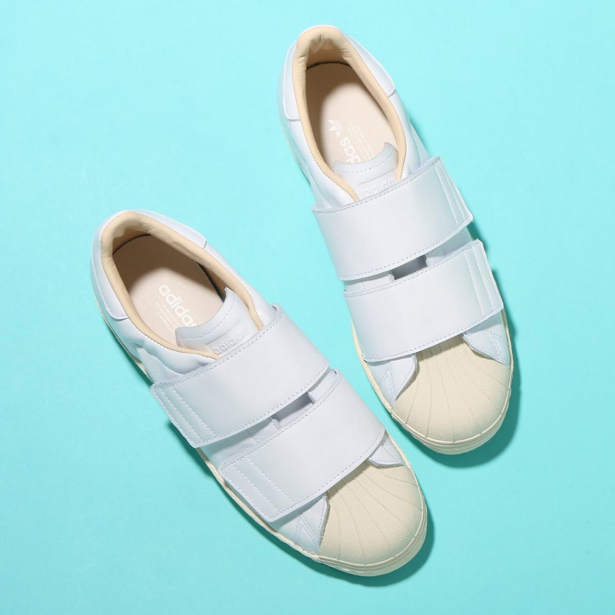adidas Originals SS 80s VELCRO W(アディダス オリジナルス スーパースター 80s ベルクロ W)Running White/Running White/Linen【レディース スニーカー】18FW-S