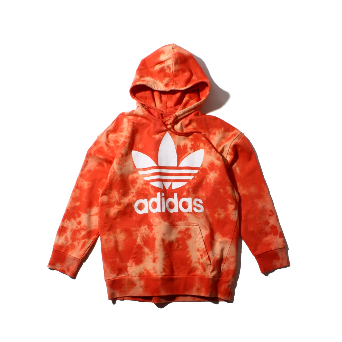 adidas Originals TIE DYE HOODIE (アディダス オリジナルス タイダイ フーディー) Trace Scarlet【メンズ パーカー】18SS-S