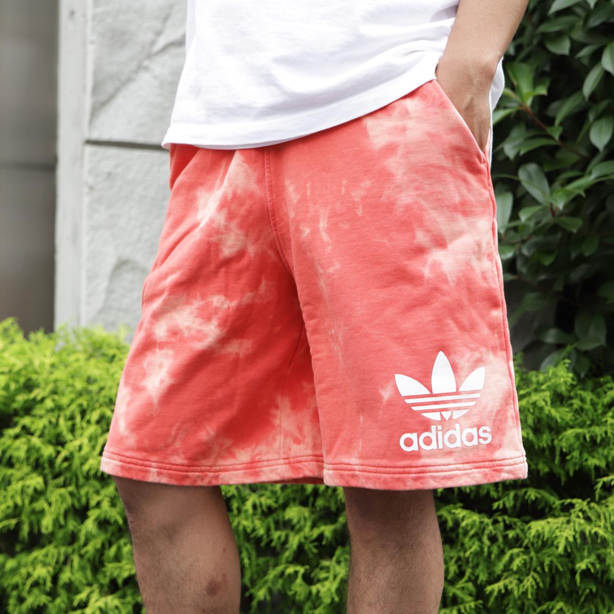 adidas Originals TIE DYE SHORTS (アディダス オリジナルス タイダイ ショーツ) Trase Scarlet【メンズ ショートパンツ】18SS-I