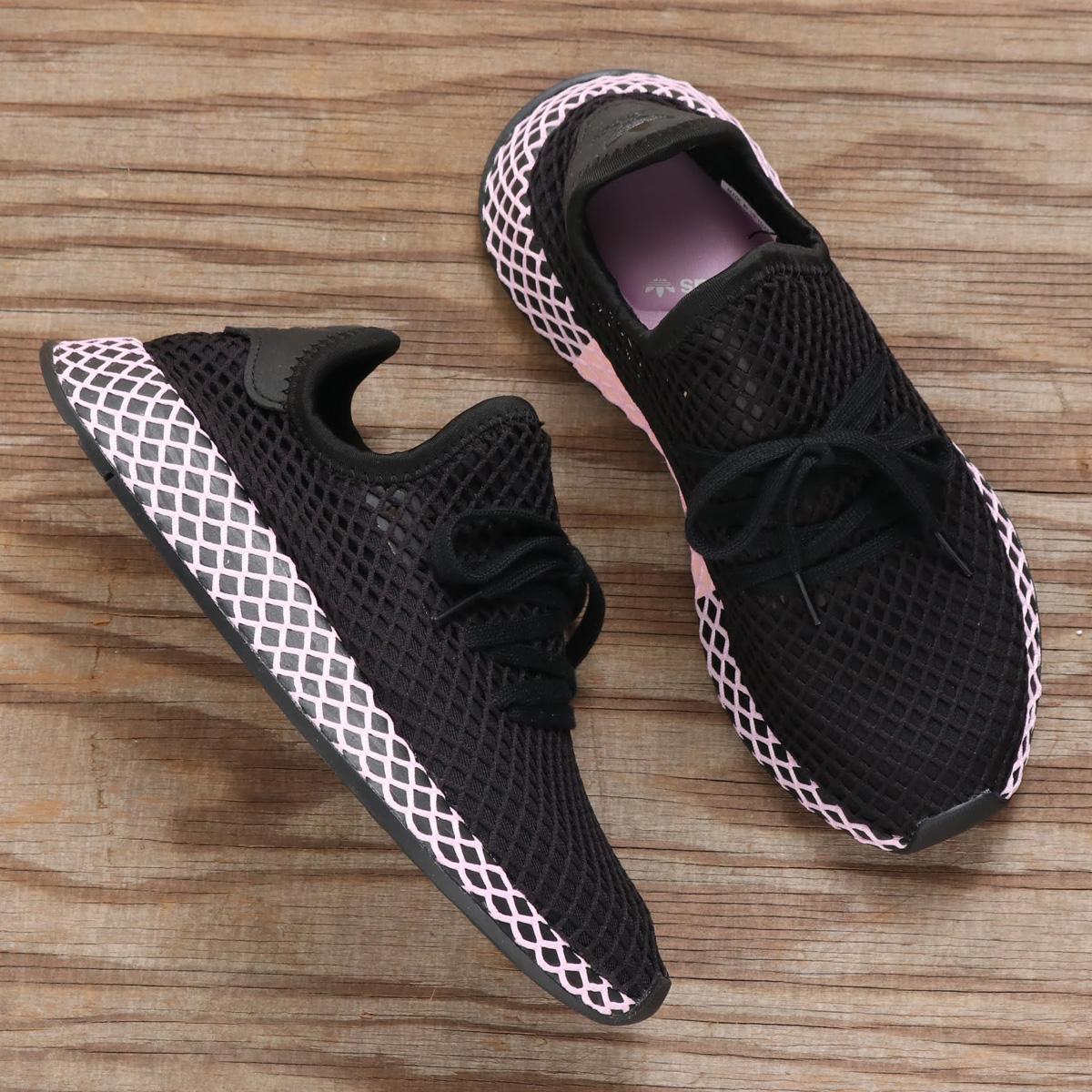 adidas Originals DEERUPT RUNNER W(アディダス オリジナルス ディーラプトランナーW)CORE BLACK/CORE BLACK/CLEAR LILAC【メンズ レディース スニーカー】18FW-I