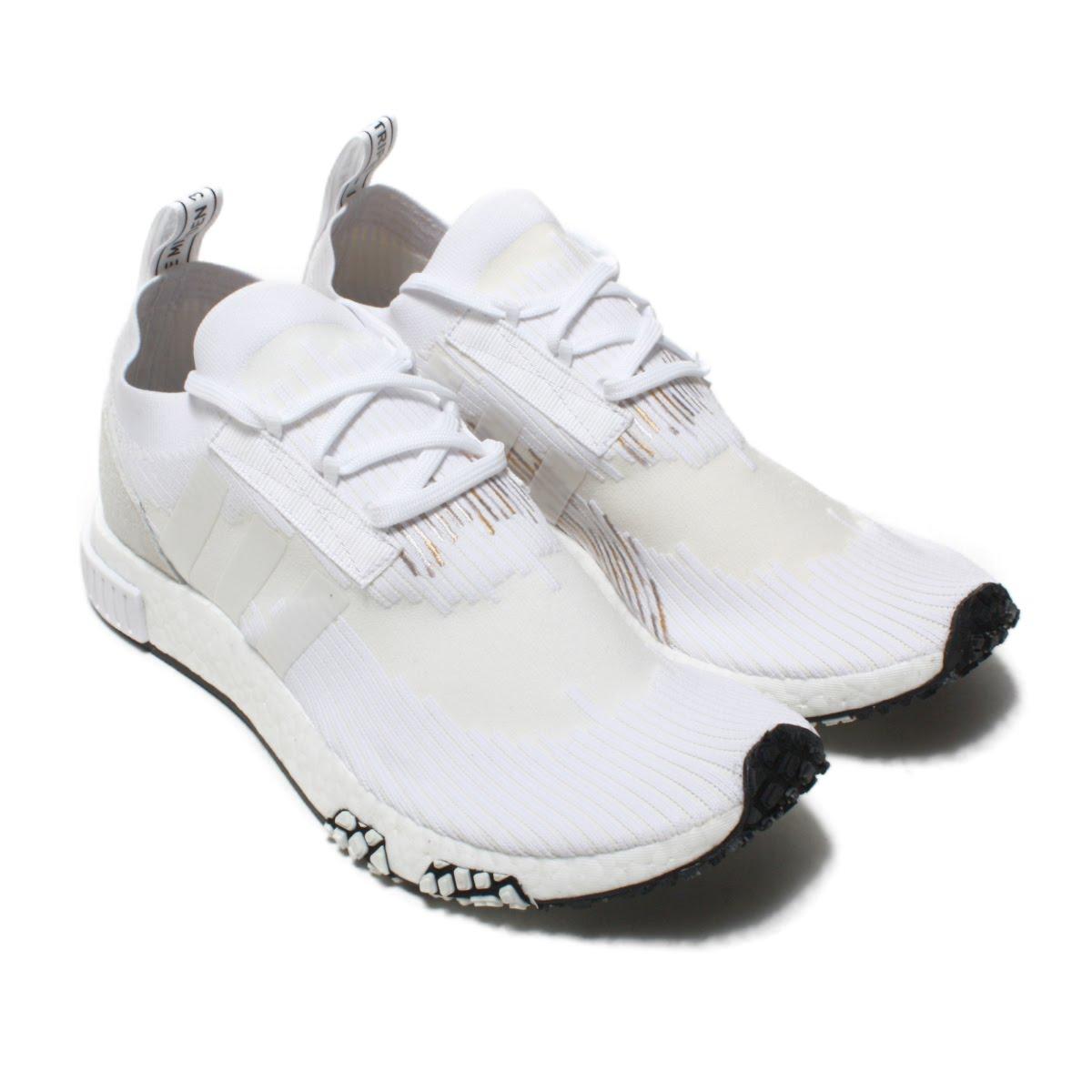 adidas NMD_RACER PK(アディダス エヌエムディレーサーPK)RUNNING WHITE/RUNNING WHITE/RUNNING WHITE【メンズ スニーカー】18FW-I