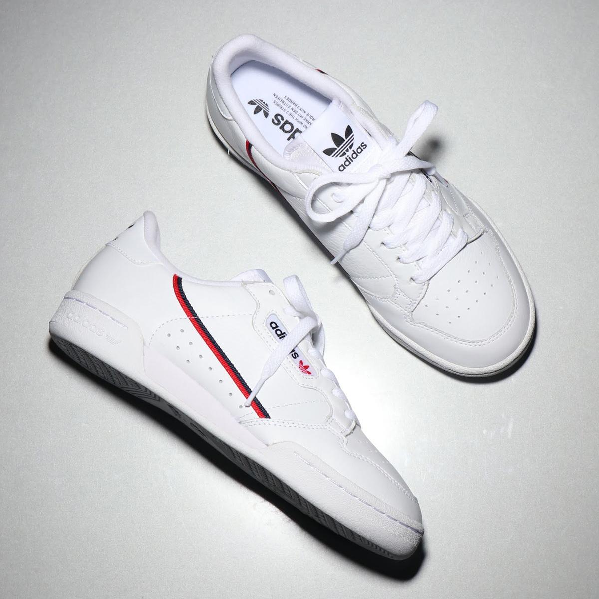 adidas Originals CONTINENTAL 80(アディダス オリジナルス コンチネンタル 80)FTWR WHITE/SCARLET/COLLEGIATE NAVY【メンズ レディース スニーカー】18FW-I