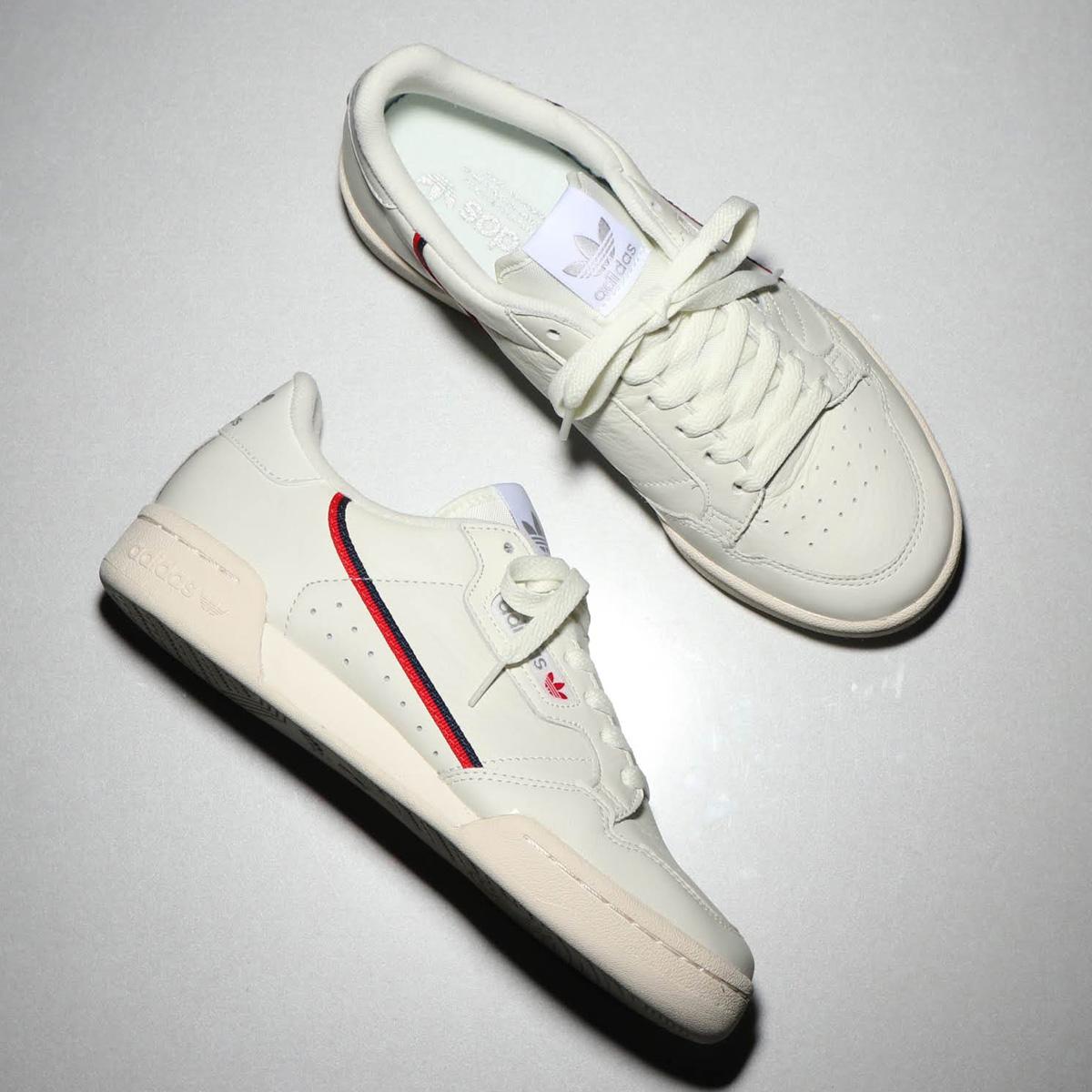 adidas Originals CONTINENTAL 80 (Adidas originals Continental 80) BEIGE/OFF  WHITE/SCARLET 18FW-I